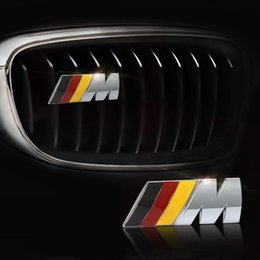 $enCountryForm.capitalKeyWord Australia - Car Styling 3D Metal    M M Power Logo Sticker Car Front Grille emblem Chrome Badge Decal For BMW E36 E30 E34 E46 E39 E60 E90