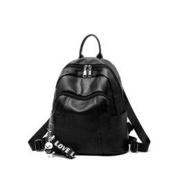 Brown Bear Backpack Australia - good qualityPu Leather Women Backpack Fashion Solid School Bag For Teenager Girl Large Capacity Bear Pendant Design Casual Women Bag