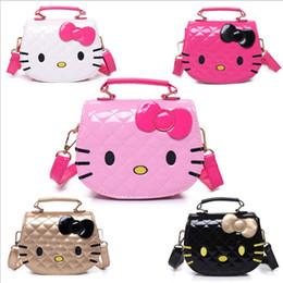 $enCountryForm.capitalKeyWord Australia - Cute Cartoon Hello Kitty Bowknot Handbag Girls Cute Shoulder Bag Kids Tote Girls Shoulder Bag cross body Mini handbag