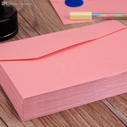 $enCountryForm.capitalKeyWord Australia - Wholesale-50 pcs  set A4 Size 170*120mm Pearl pink ordinary paper gift window envelopes wedding invitation  sobres kraft papel Mu 2228