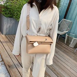 clutch pins Australia - Niche Design Package Ladies New 2019 Fashion Tide Simple Shoulder Bag Wild Messenger Bag Female Pin Creative Clutch
