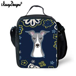 canvas floral lunch bag Australia - 3D Cute Floral Dog Printing Lunch Bag Thermal Canvas School Storage for Kids Portable Cooler Tote Picnic Bag for Children