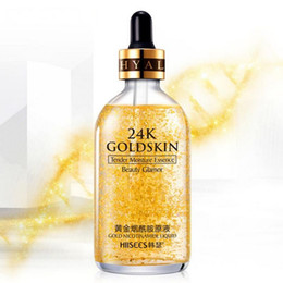 essence gel 2019 - 24K gold Foundation Liquid Essence Moisturizer Natural Facial Makeup Base 24K Gold Foil Oil Professional Make Up Matte B