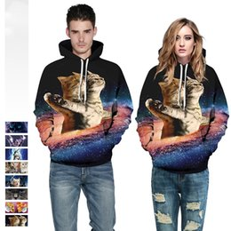 TiTanic cloThing online shopping - 8 Style Titanic Cat Galaxy Hoodies Sweatshirts Men Women d Casual Spring Autumn Pullover Tracksuit Clothing Plus Size Tops