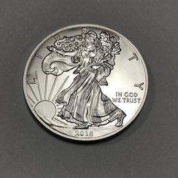 5 штук немагнитные монета relievo 2018 с изображением монеты свободы с перевернутой орлиной серебряной позолотой 40 мм на Распродаже