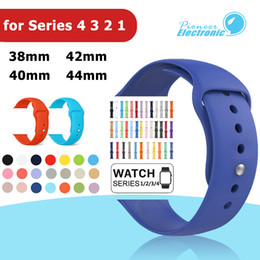 Replacement bRacelet watch bands online shopping - Colorful Soft Silicone Sport Band Replacement Sportsband Watch Strap Belt Bracelet for mm mm Apple Watch iWatch Goophone Watch