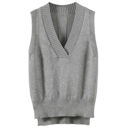 Wholesale Fashionable loose British sweater V neck wool knit vest