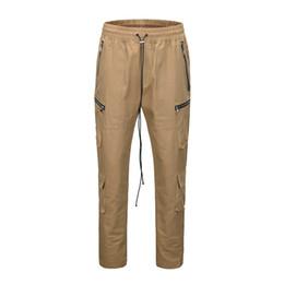 $enCountryForm.capitalKeyWord UK - Ankle Button High Street Pants Men Elastic Waist Side Pockets Cargo Pants Men's Trousers Black Khaki