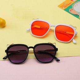 Wayfarer Metal NZ - Kids Sunglass Baby Sunglasses Girls Boys Sun Glasses Fashion Beach Supplies UV400 Protective Eyewear PC+Metal Frame Q50