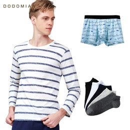 2019 Luck Bag Long Sleep Sets Striped Indoor Set Casual Loungewear Quality  Cotton Nighties for Men Sleep Shirts+ Pajama Pants 20c383b2a