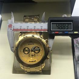 $enCountryForm.capitalKeyWord Australia - Big dial invicta All Subdials Working Chronograph Luxury Watch Men Watches Top Brand Silicone tape Quartz Watch cfo R Men gift relojes