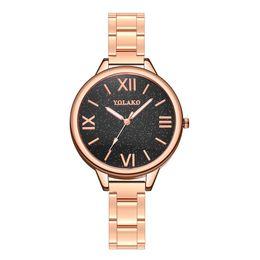 $enCountryForm.capitalKeyWord Australia - Fashion YOLAKO Luxury Ladies Steel Strip Watch With Simple Mirror Quartz Watch Relogio Feminino Hot Clock #70