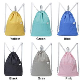c8c47d0a90 Portable Collapsible Drawstring Bag String Backpack Fashion Simple Handheld  Foldable Storage Backpacks For Women Men Girls Bags
