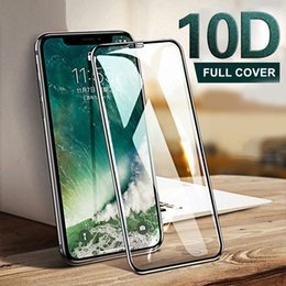 glossy protective cover NZ - 2019 new 10D Protective Glass on the For iPhone X XR XS XS MAX glass full cover iPhone X 10 Screen Protector xs Tempered Glass