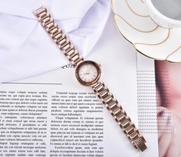 Rose golden watches online shopping - New Women s Watch Fashion Steel Belt Quartz Core Golden Rose Gold Women s Wear Business Leisure Sports Dress Accessories Life Waterproof