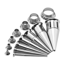 ear stretcher kits Australia - Surgical Stainless Steel Ear Stretching Kit Ear Stretchers Plugs and Tunnels Piercing Gauges Plug Expander Body Jewelry
