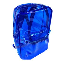 clear pvc backpacks NZ - Travel Bags Sports Clear Student Kids PVC Waterproof Adult School Backpack