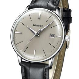 Wrist Watch Binger Australia - New Binger Mechanical Watch Men Brand Luxury Men's Automatic Watches Sapphire Wrist Watch Male Waterproof Reloj Hombre B5078m-5 Y19052103