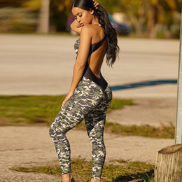 $enCountryForm.capitalKeyWord Australia - Fitness Jumpsuit For Women Workout Clothes Sport Playsuit Excise Clothing Skinny Camo Camouflage Military Army Jumpsuit F72429 MX190726