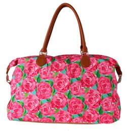 $enCountryForm.capitalKeyWord Australia - women's Lilly Weekender Travel Tote bags printing handbag big red Rose Luggage bags
