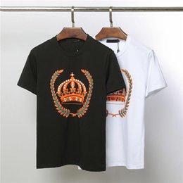 Crown Tee Australia - Mens Designer Summer T Shirt Men Women Luxury Brand Tees Shirts Crown Print Anti-shrinkage T Shirt Casual Clothing Size M-2XL