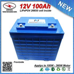 battery solar 12v Australia - Big Capacity LiFePO4 12V 100Ah Deep Cycle Lithium ion battery for EV HEV Car scooter UPS Streetlamp solar system FREE SHIPPING