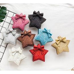 $enCountryForm.capitalKeyWord NZ - 2019New design baby girl glitter Shoulder Bag fashion princess girl Five-Pointed Star sequin crossbody bag wholesale