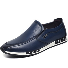 best men loafer shoes 2020 - size358 Top Men loafer male leather Best Shoes celebrity style moccasin gentlemen pig leather lining shoes embroidery fa