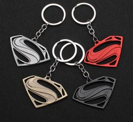 $enCountryForm.capitalKeyWord NZ - Superman Keychain Superhero S Logo Zinc Alloy Keyring Gold Silver Black Color Key Chain For Fashion Jewelry Accessories