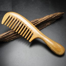 Travel Hair Canada - Hair Comb Large Handle Comb Brush Wide Tooth Massage Handmade Hair Care Styling Tool Massage Anti Static Hairloss Men Women Home Travel