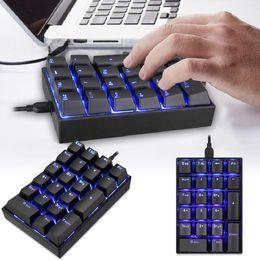 $enCountryForm.capitalKeyWord Australia - 2018 New Coocheer K23 USB wired Numeric Mechanical Keyboard with Kailh Box Switch Black Blue Backlight 21 Keys Hot Sale
