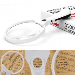 China 2X 4X 25X Magnifier Hand Hold Reading Magnifying Glass High Power Eye Loupe LED Light Jewelry Loupe Eye Magnifier suppliers