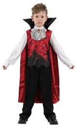 children role play costumes 2019 - Children's Halloween Purim Party Role play dress Vampire Costumes Children Kids Devil Demon Cosplays Carnival cheap