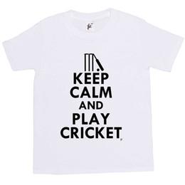 $enCountryForm.capitalKeyWord Australia - Keep Calm & Play Cricket - Stumps Bat Kids Boys   Girls T-Shirt Tees Custom Jersey hoodie hip hop t-shirt jacket croatia leather tshirt