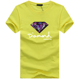 Mens diaMond shirts online shopping - 2019 New Summer Mens T Shirts Fashion Mens Designer T Shirts Short sleeve Printed Diamond Supply Casual Male Tops Tees T shirt S XL