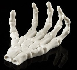 carved mold Canada - Resin skeleton Halloween equipment personality decoration household medical mold palm skeleton foreign trade go culpture statue