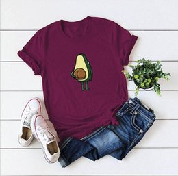 $enCountryForm.capitalKeyWord Australia - Spot! Cross-border new explosions Europe and America creative fun spoof avocado short-sleeved women T comfortable casual T-shirt