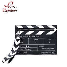 $enCountryForm.capitalKeyWord NZ - Black & White Fashion Movie Prop Design Pu Leather Casual Women's Clutch Envelope Shoulder Crossbody Messener Bag J190517