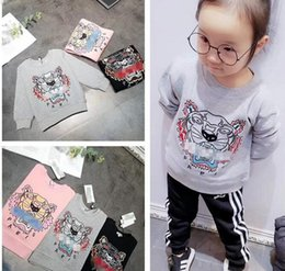 Head Jackets Australia - Kids Clothing Baby Sweaters 2019 Autumn Newest Fashion Children Cotton Woolen Sweaters Exquisite Tiger Head Embroidery For Kids Jackets
