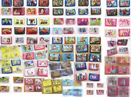 China Wholesale Lot Mix Cartoon character Avengers Hello kitty Spiderman Wallet Trifold Zip Kids Cartoon Party Coin Purse gift cheap hello kitty girls purses suppliers