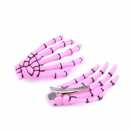 $enCountryForm.capitalKeyWord Australia - Fashion Hair Accessories Skeleton Claws Skull Hand Hair Clip Hairpin Zombie Punk Horror Bobby Pins Barrette For Women