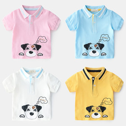 Boy Dog T Shirt Australia - 2019 New Summer Classic lapel Enfant Boys T-shirt Printed cartoon dog Children Cotton polo Shirt Tops Kids Baby Short Sleeve T-Shirt