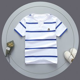 Children White Tees Australia - good quality summer boys top t-shirt fashion striped cotton clothes children tees kids bebe t-shirt letter print child boys clothing