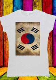 Discount south korea shirts - Women's Tee Korean Flag South Korea Seoul T-shirt Men Women Unisex 1428 Printed T Shirts Women