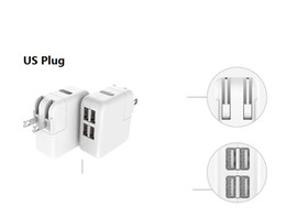 fast charge plug NZ - cellphone Universal 4 Port Travel USB charger Adapter EU AU US PLUG mobile phone 4 USB fast Charger power quick charging for Iphone huawei