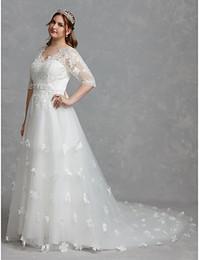 $enCountryForm.capitalKeyWord Canada - wedding dresses beautiful long tail skirts new style pearls crystal sash print lace back modern beautiful wedding dress De Mariee Plus