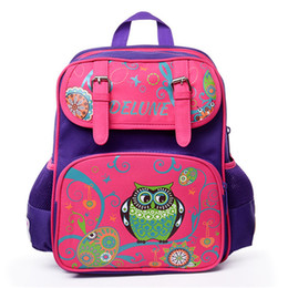 Kids Books Characters Australia - Kids Baby Students Cartoon Owl Character Book School Bags Backpacks For Children Satchel Shoulder Bags For Boys And Girls