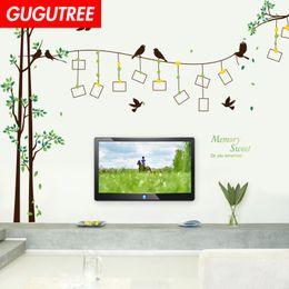 $enCountryForm.capitalKeyWord Australia - Decorate Home photo trees bird cartoon art wall sticker decoration Decals mural painting Removable Decor Wallpaper G-2098