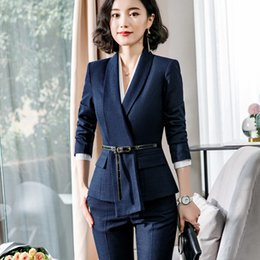 $enCountryForm.capitalKeyWord Australia - High quality fashion pant suits women 2019 spring new long sleeve slim formal blazer and pants office ladies plus size work wear