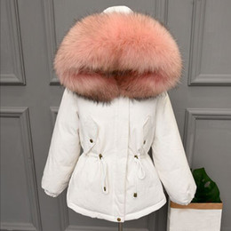 Women Winter Parka Australia - Thicken Warm Winter Coat Women Oversize 2018 Large Real Natural Fur White Duck Down Parka Hooded Outerwear Winter Jacket Women